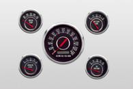 240 km/h kph metric 5 gauge vintage classic gauges