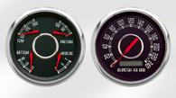 "classic 2 gauge 3-3/8"" kph old tyme vintage gauges"