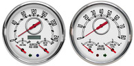 old school classic vintage gauges 2 gauge kit metric hot rod