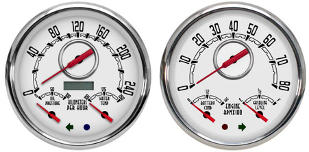 old school classic vintage gauges 2 gauge kit metric hot rod