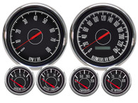 "1967 6 GA  4-3/8"" PROG SPEEDO BLACK 73-10 FORD/CHRY 240 KPH"