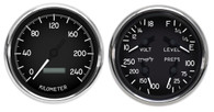 metric military hot rod aircraft gauges dash kph km/h