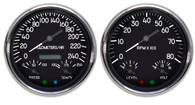 military aviation aircraft tank style hot rod gauges metric kph km/h