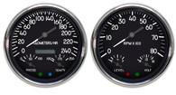 military aviation aircraft tank style hot rod gauges metric kph km/h