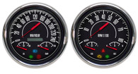 Vintage 60s muscle musclecar gauges metric kph km/h