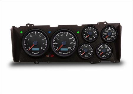 red LED cutlass g-body dash cluster custom gauges