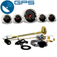 REGENT 5 GAUGE KIT BACKLIT BLACK GPS