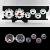 70-72 MALIBU SWEEP DASH PERFORMANCE WHT