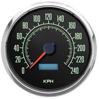 vintage retro muscle car 60s kph km/h kilometer speedometer