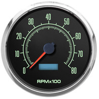 muscle car gauges led lighting 60s style retro tachometer