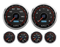 CFR RED 6 GA KIT 4-3/8 SPEEDO AND TACH