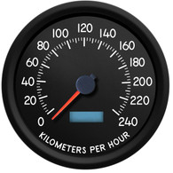 military style electronic speedometer kph km/h