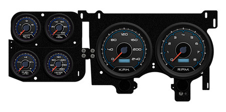 led truck gauges 73 87 gm truck kph