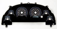 99-04 MUSTANG CLUSTER OVERLAY CFR BLUE