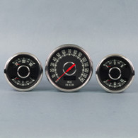 "3-3/8-4 3/8"" KIT SPDO/COMBO GAUGES-BLACK"