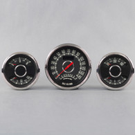 WOOD DUALS/SPEEDO/TACH 338-438 BLACK