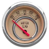 "WOODWARD SERIES WATER TEMP W/ SENDER 2-1/16"" BEIGE"