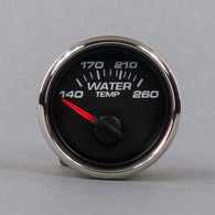 "2-1/16"" WATER TEMP 250FW/ SENDER BLACK"