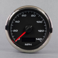 "3-3/8"" PROGRAMMABLE SPEEDOMETER 140 MPH BLACK NO SENDER"