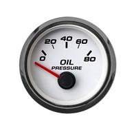 """2-1/16"""" OIL PRESSURE 100 PSI W/ SENDER WHT"""