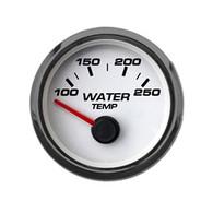 "2-1/16"" WATER TEMP 250FW/ SENDER WHT"