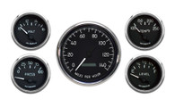 5 GAUGE KIT PROGRAMMABLE SPEEDO BLACK