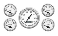 5 GAUGE KIT MECHANICAL SPEEDO WHITE