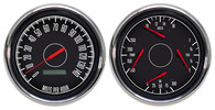 "4 3/8"" 2 GAUGE KIT BLACK PROG SPEEDO 240 FUEL UNIV."