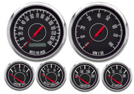 1967 SERIES 6 GAUGE KIT PROGRAMMABLE SPEEDO BLACK