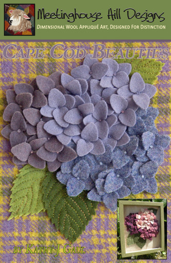 "Single fabric per bloom, ""blue version"". Updated and new format instructions now include options for making blooms from two fabrics each as well!"