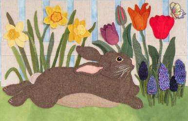"""""""Nibbles"""" enjoys his respite in the garden!"""
