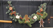 "32"" long garland and separate ornament - consider making up the cinnamon sticks, dried orange slices and dried apple slices for an autumn bowl filled with pumpkin spied drieds too!"