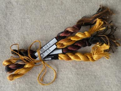 Thread for yellow Indian corn cob.