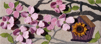 Mom's Dogwood in Bloom, photographed outdoors for best display of dimension.