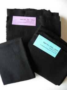 1/2 Yard Felted Black Wool