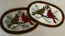 Wool applique pattern, complete kit (pattern, wools, threads, stuffing, backing) or rug canvas sold separately.