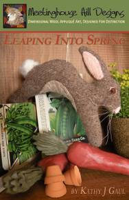 """Our new and updated pattern and cover!  Available here as a digital download, but it's also available as professionally printed pattern that we ship to you.  Search """"leaping into spring"""" to order the printed version."""
