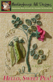 Cover photo showing dimensional pea pod and blossom!