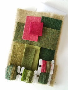 Our NEW kit!  With all original materials - hand dyed and off the bolt felted wools and Valdani threads.