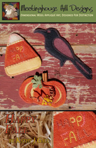 BRAND NEW - Just in time to welcome fall!  Cover artwork shows these cute all ornaments made from wool FELT, but of course, felted wool may also be used!