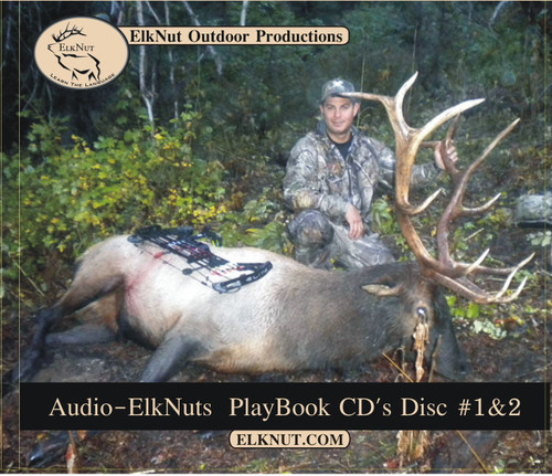 ElkNut's Playbook 1 Front- Audiobook Elk Hunting Tips, Instruction Book, Listen to Audio