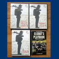 Includes ElkNut's PlayBook - Sounds By The Elk CD - and ElkNut's two latest DVDs a combo that pairs his brand new release The ElkNut 5: Basic Elk Sounds for Success DVD (includes bonus MP3). pkg - 8