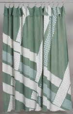 "INTERIOR CURTAINS: SHOWER CURTAIN ""Checkered Roadway"""