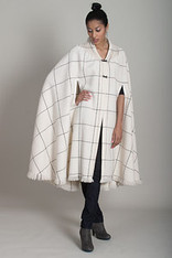 CAPES: WINDOWPANE IVORY