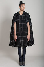 CAPES: WINDOWPANE BLACK