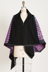 CAPES: MOSAIC PLAID LAVENDER
