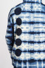 TIger Shibori Dot Hoodie - Detail of Back Dot Appliques
