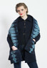 EIKO JACKET: Circle Shibori, indigo + natural, cotton matelasse (Quilted Shibori Scarf sold seperately)