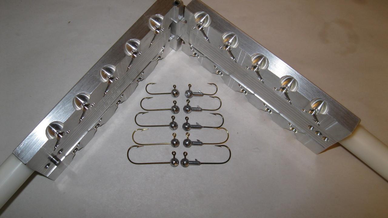 3/32 oz  Round Head Jig Mold - 10 cavity