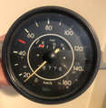 KILOMETER SPEEDOMETER 160 KM  (DATED 7/71)